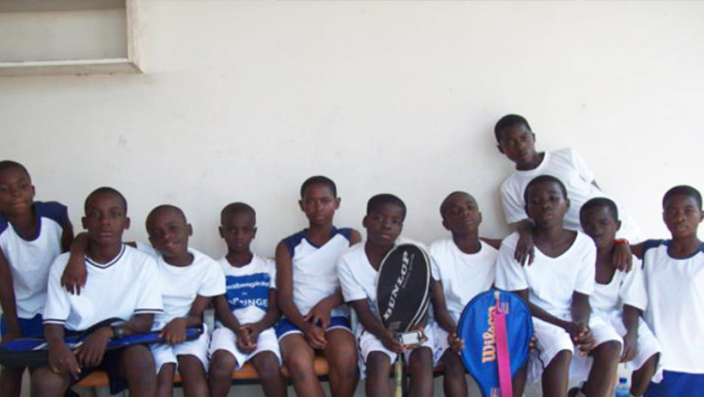 The Match Point Tennis Club Of New York Donate To The La Constance Tennis Academy Of Akropong