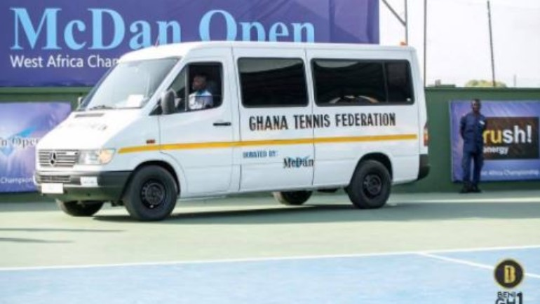 McDan donates bus to Ghana Tennis Federation