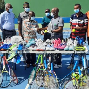 The La Constance Center for Global Health Donates Tennis Equipment to the University of Ghana  Tennis Program.